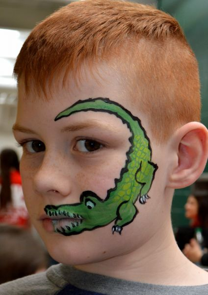 Alligator Face Painting