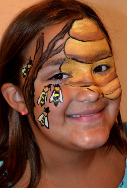 Honey Bee Face Painting