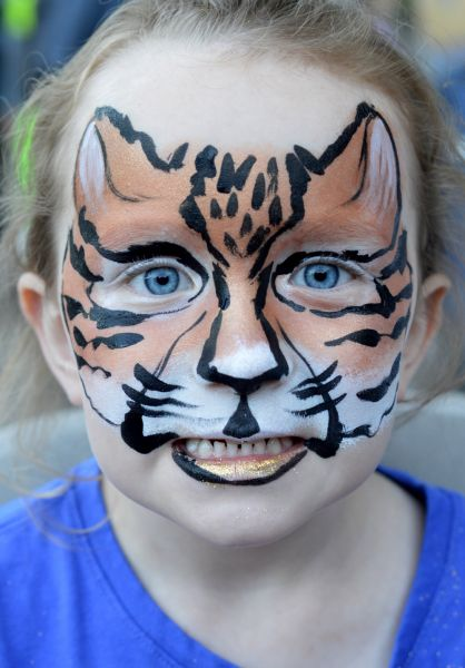 Ocelot Face Painting