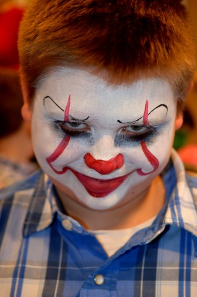 Pennywise Face Painting