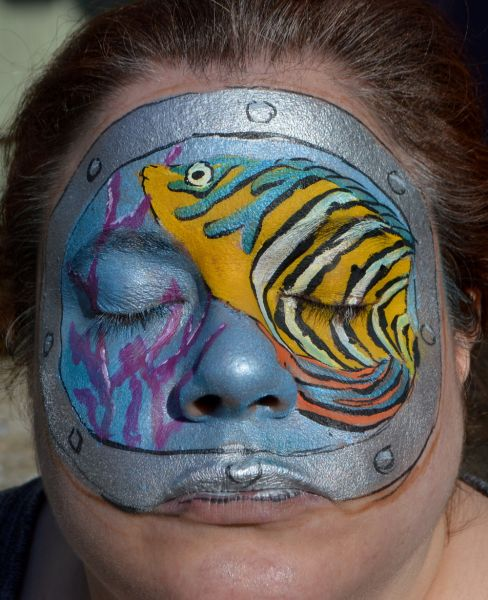 Fish Face Painting