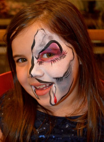 Vampire Face Painting